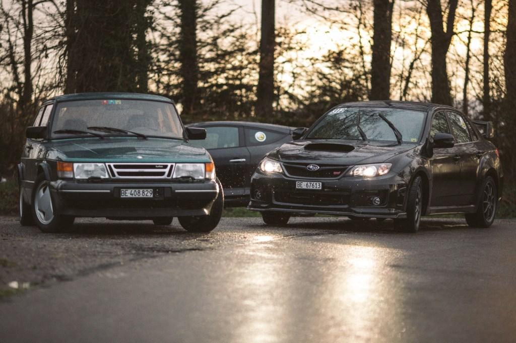 Saab 900, Renault Megane, Subaru Impreza STI